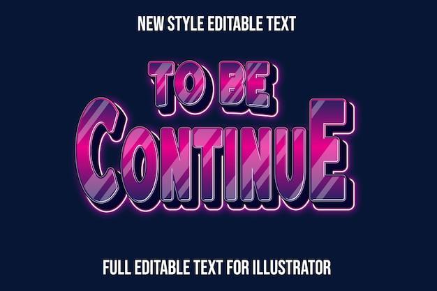 Efeito de texto para continuar a cor gradiente rosa e roxo