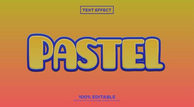 Efeito de texto pastel