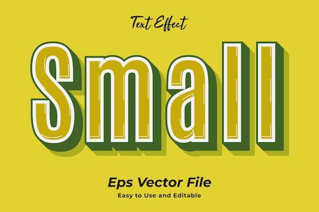 Efeito de texto pequeno simples de usar e editar vetor de alta qualidade