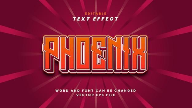 Efeito de texto phoenix