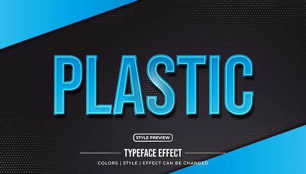 Efeito de texto plástico