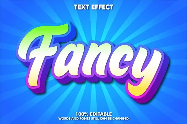 Efeito de texto pop art chique