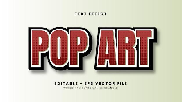 Efeito de texto pop art vermelho