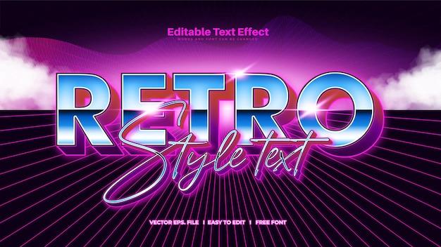 Efeito de texto pop retro moderno dos anos 80