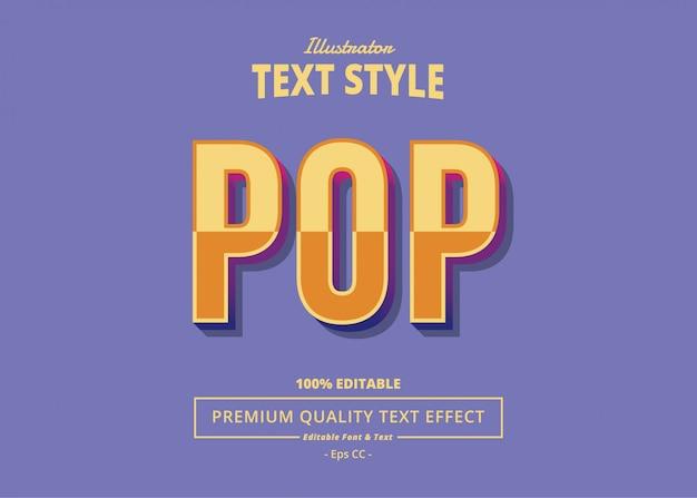 Efeito de texto pop