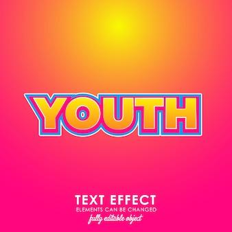 Efeito de texto premium para jovens