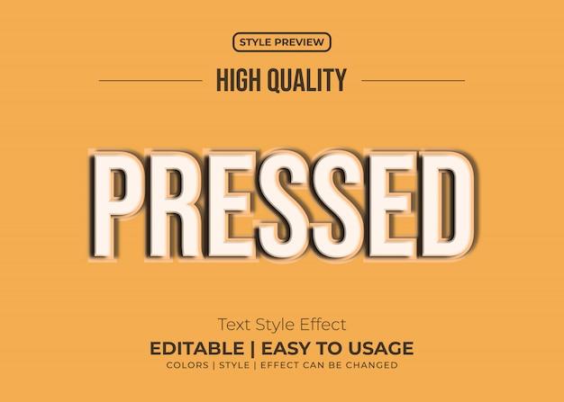 Efeito de texto pressionado com estilo vintage