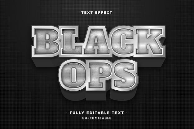 Efeito de texto preto ops