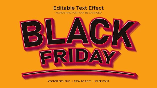 Efeito de texto preto sexta-feira