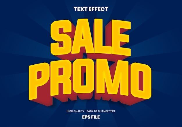Efeito de texto promocional de venda