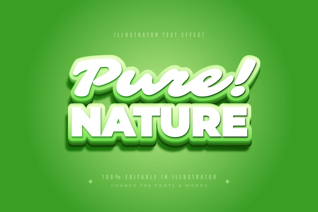 Efeito de texto puro da natureza