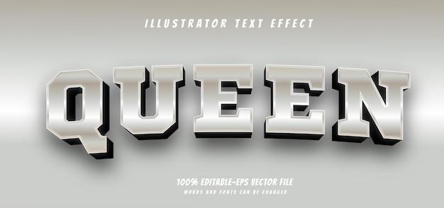 Efeito de texto rainha