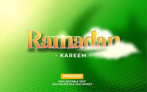 Efeito de texto ramadan kareem