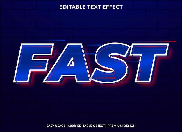 Efeito de texto rápido com estilo arrojado