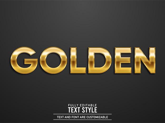 Efeito de texto realista de luxo ouro