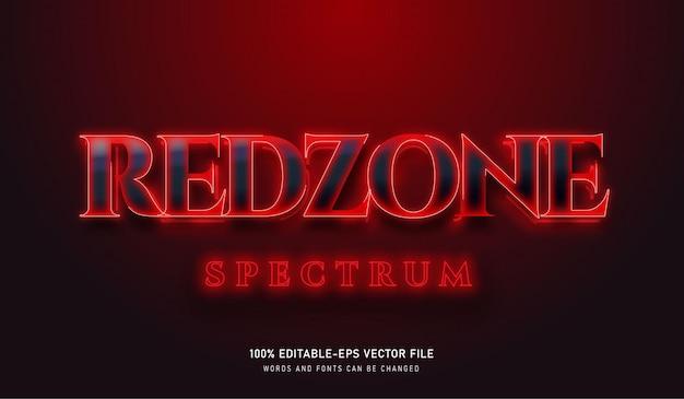 Efeito de texto redzone spectrum