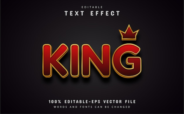 Efeito de texto rei editável