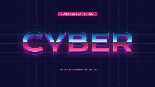Efeito de texto retro cibernético