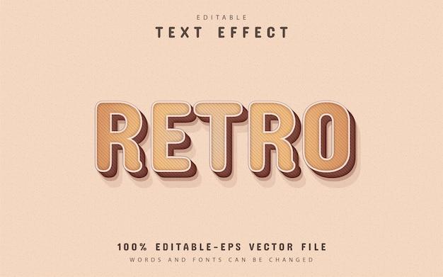 Efeito de texto retro editável