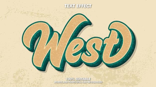 Efeito de texto retro vintage editável com textura grunge