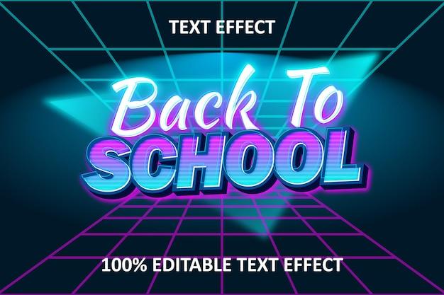 Efeito de texto retro wave editável azul ciano rosa