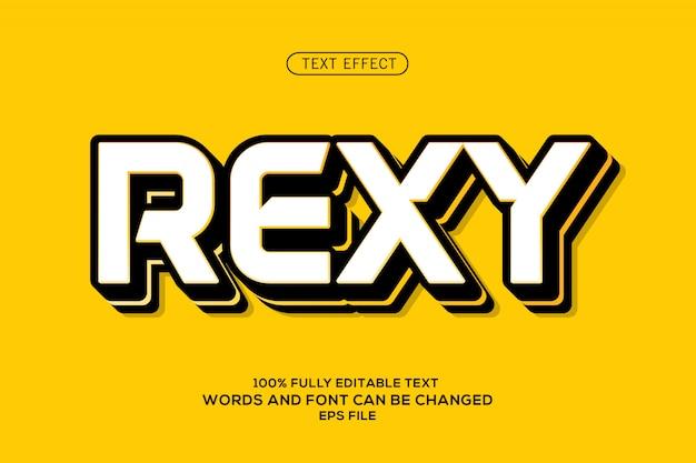 Efeito de texto rexy
