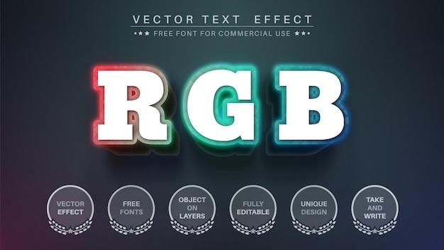 Efeito de texto rgb 3d, estilo de fonte