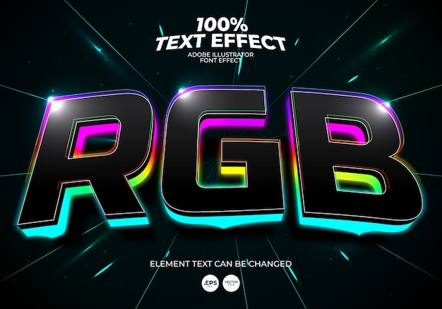Efeito de texto rgb