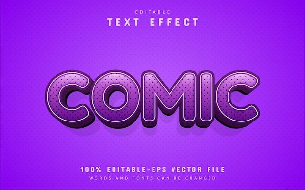 Efeito de texto roxo editável