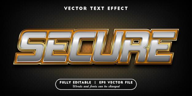 Efeito de texto seguro com estilo de texto editável