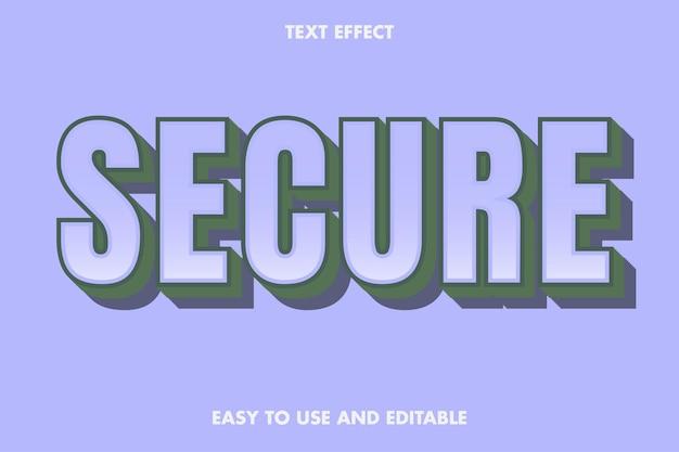 Efeito de texto seguro. editável e fácil de usar.