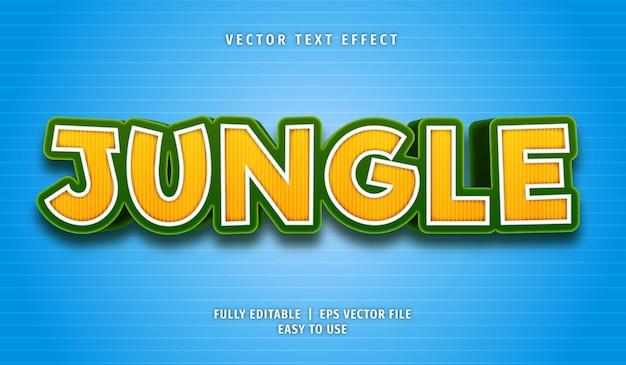 Efeito de texto selva, estilo de texto editável