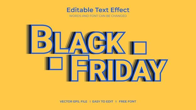 Efeito de texto sexta-feira negra