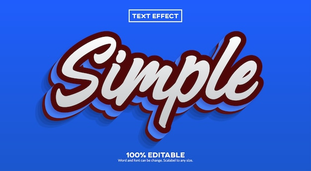 Efeito de texto simples