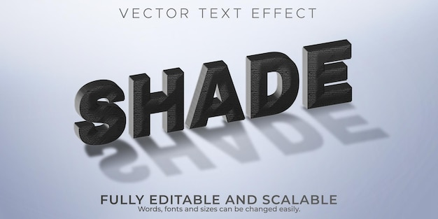 Efeito de texto sombreado, sombra editável e estilo de texto realista