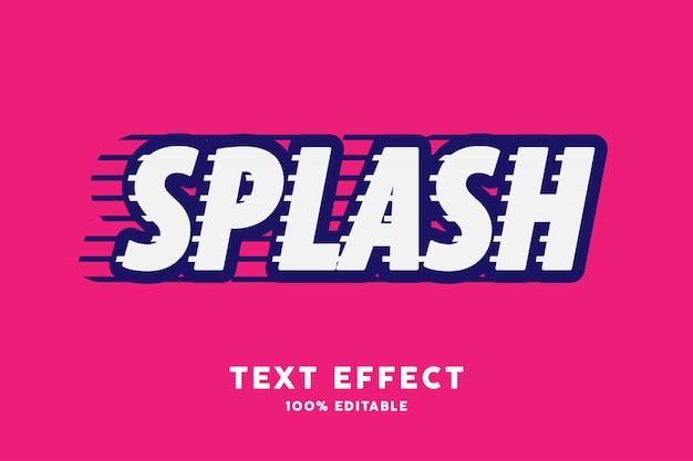 Efeito de texto splash branco