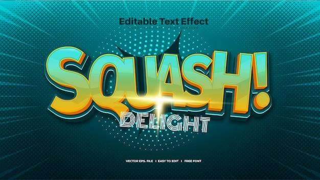 Efeito de texto squash delight
