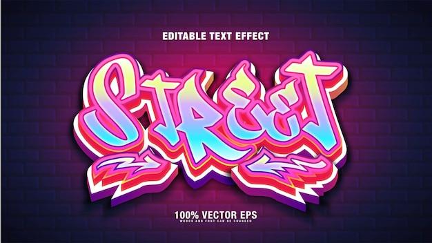 Efeito de texto street graffiti