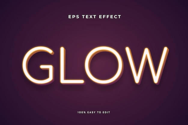 Efeito de texto suave com luz neon