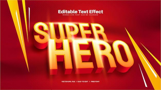 Efeito de texto super-herói 3d