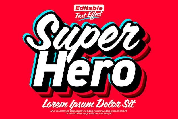 Efeito de texto super-herói limpo e resistente