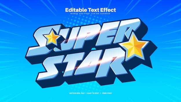 Efeito de texto super star em negrito