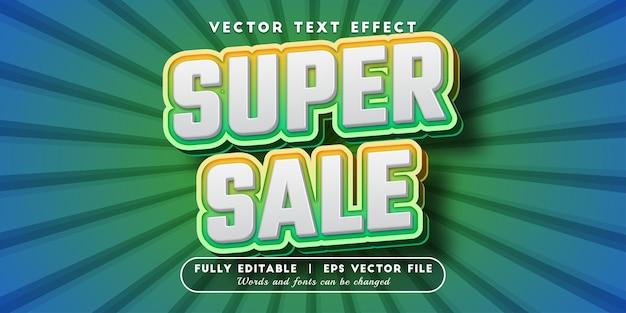 Efeito de texto super venda com estilo de texto editável