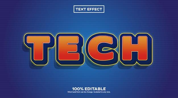 Efeito de texto tecnológico