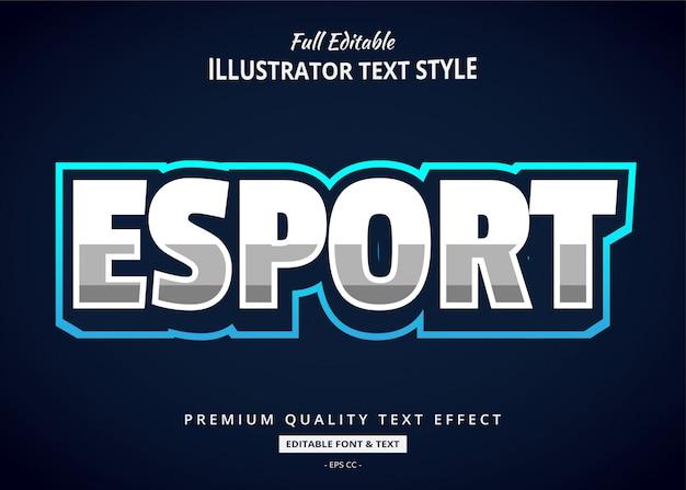 Efeito de texto tendência esport