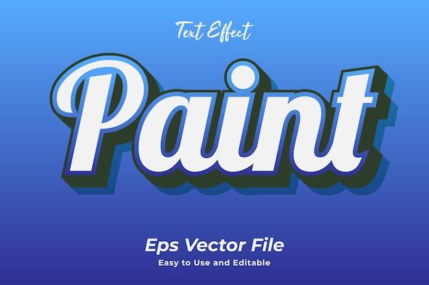 Efeito de texto tinta editável e fácil de usar vetor premium
