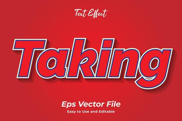 Efeito de texto, tornando o vetor premium editável e fácil de usar