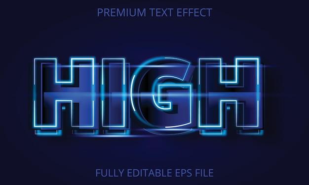Efeito de texto totalmente editável de alta iluminação