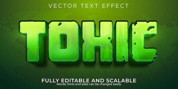 Efeito de texto tóxico