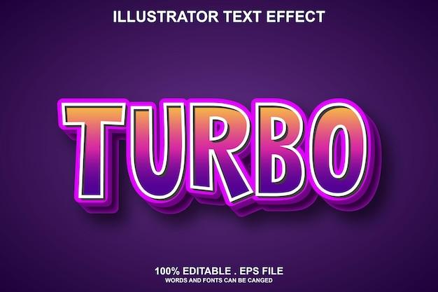 Efeito de texto turbo editável